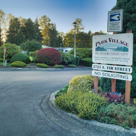 Park Village entrance