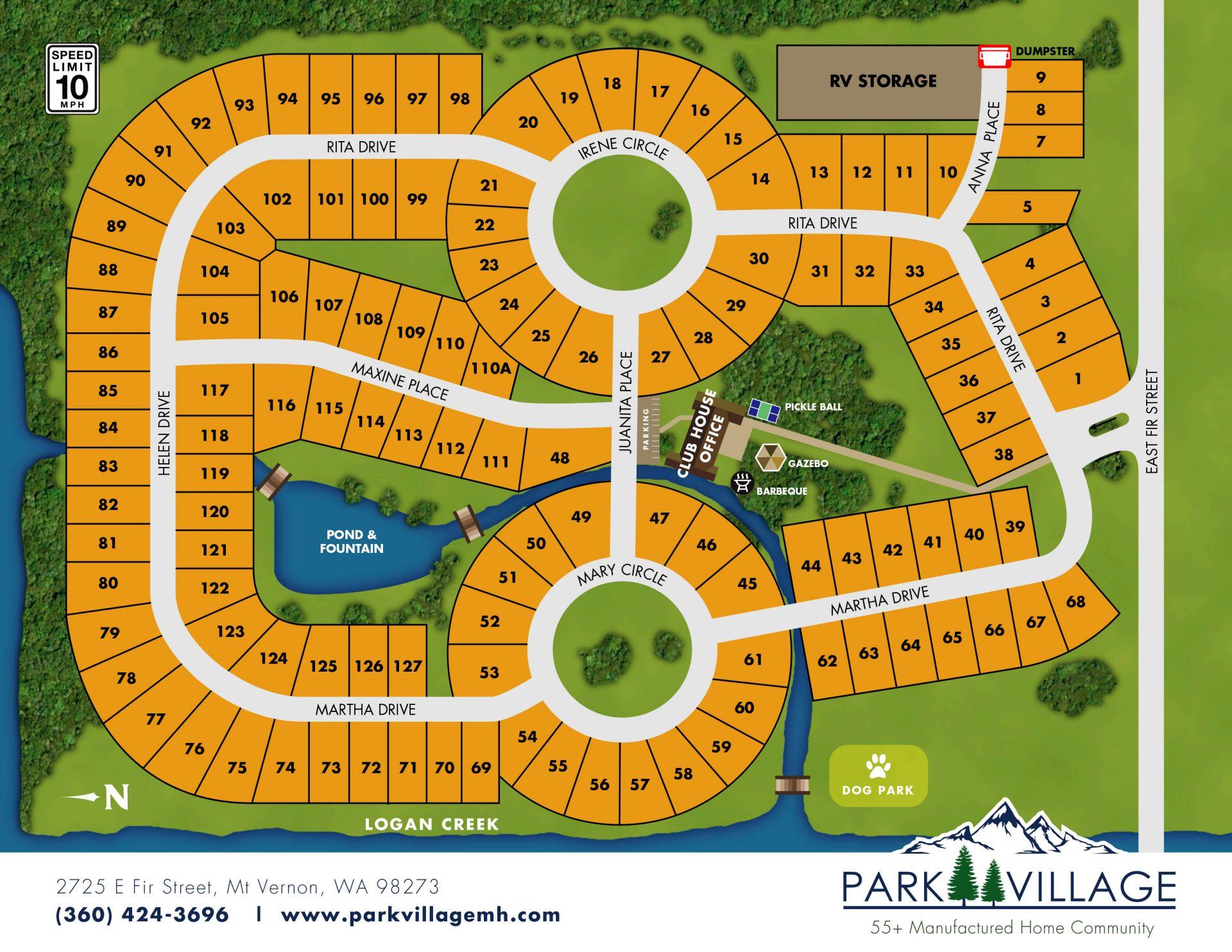 Park Village map